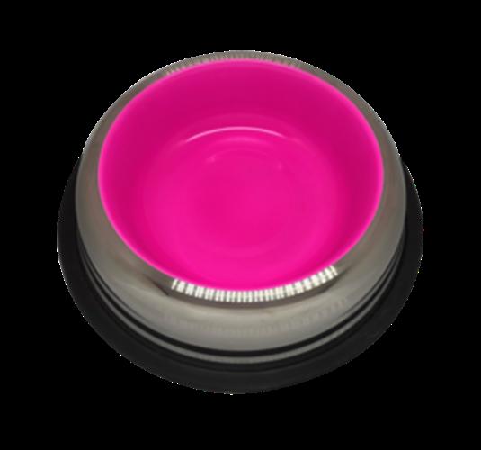 פטקס -קערת נירוסטה עם גומיות בתחתית בצבע ורוד זוהר (דגם באלי) 0.22 ליטר
