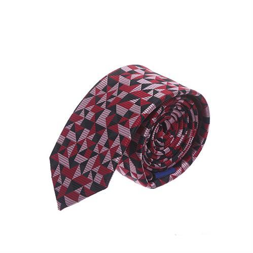 עניבה חיתוכים אדום שחור