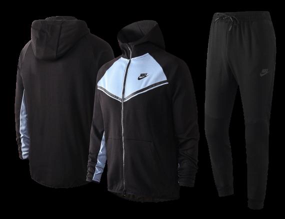 חליפת חורף נייק שחורה אפורה מבוגרים  2021