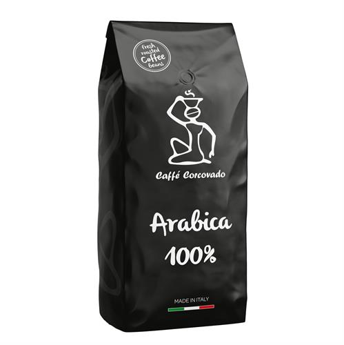 """פולי קפה 1 ק""""ג Caffe Corcovado Arabica"""