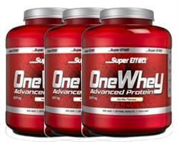 שלישיית אבקות חלבון כשר ONE WHEY  2.3kg  Super Effect  + שייקר מתנה