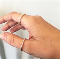 טבעת פלורי עבה כסף