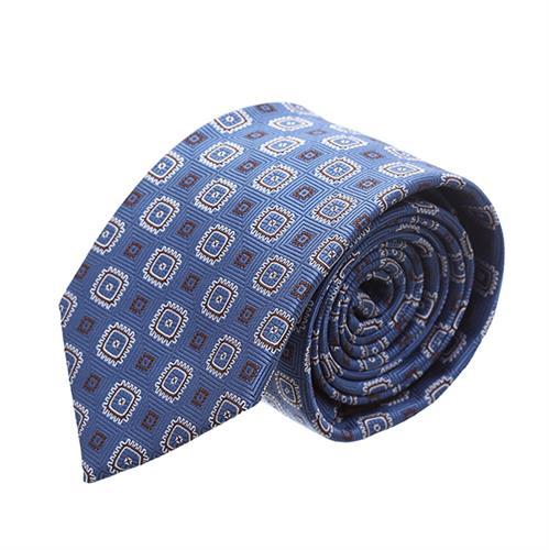 עניבה ריבועים תכלת ברונזה