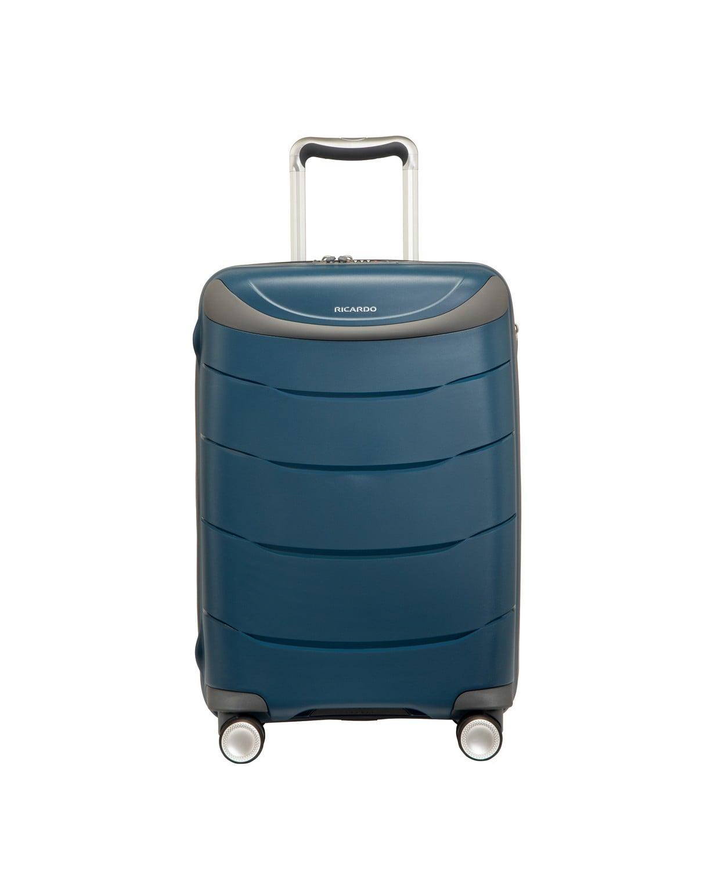 מזוודה עליה למטוס קשיחה מעולה פוליפרופילן 20 RICARDO BEVERLY HILLS כחול או שחור