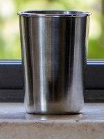 """כוס נירוסטה רב פעמית 180 מ""""ל"""