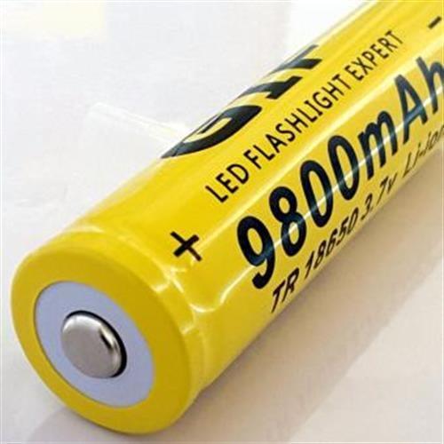 סוללה נטענת איכותית 3.7v 9800mAh 18650 Li-ion