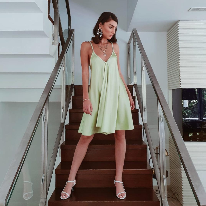 שמלת דונה קלוש - ירוק תפוח