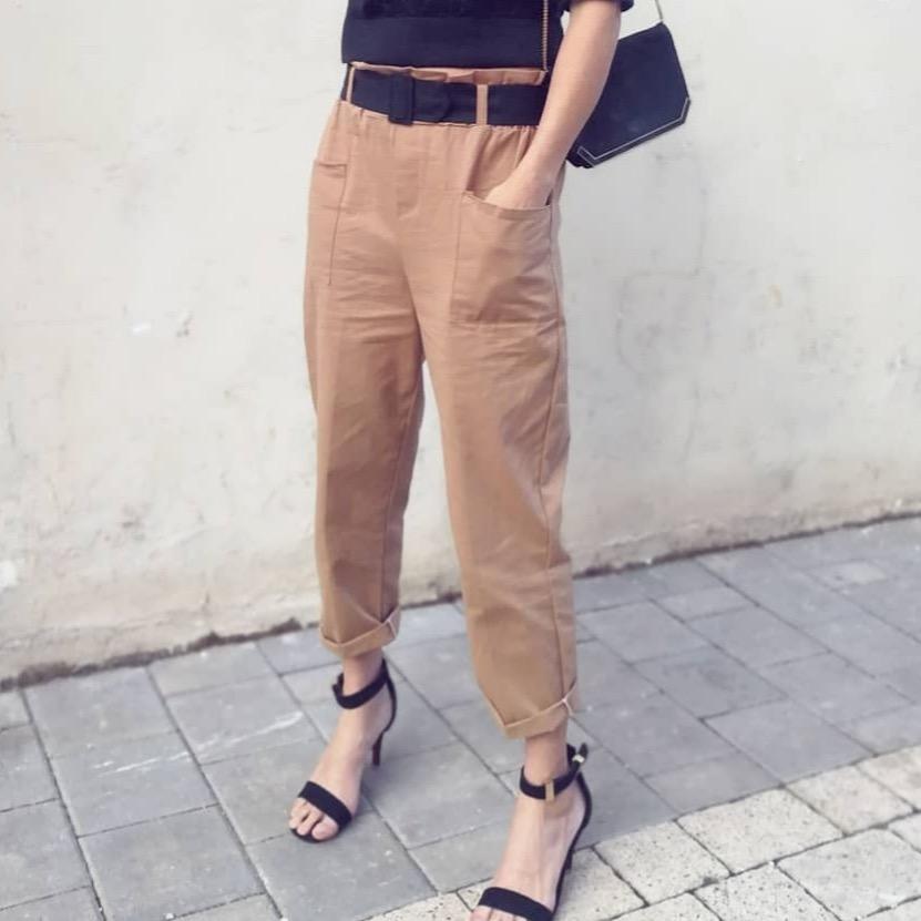 מכנס  ניל פריזאי -  חום