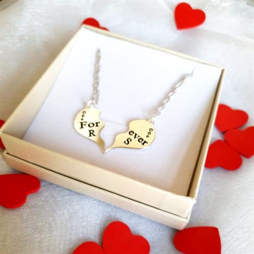 שרשראות חצי לב- יום האהבה 2