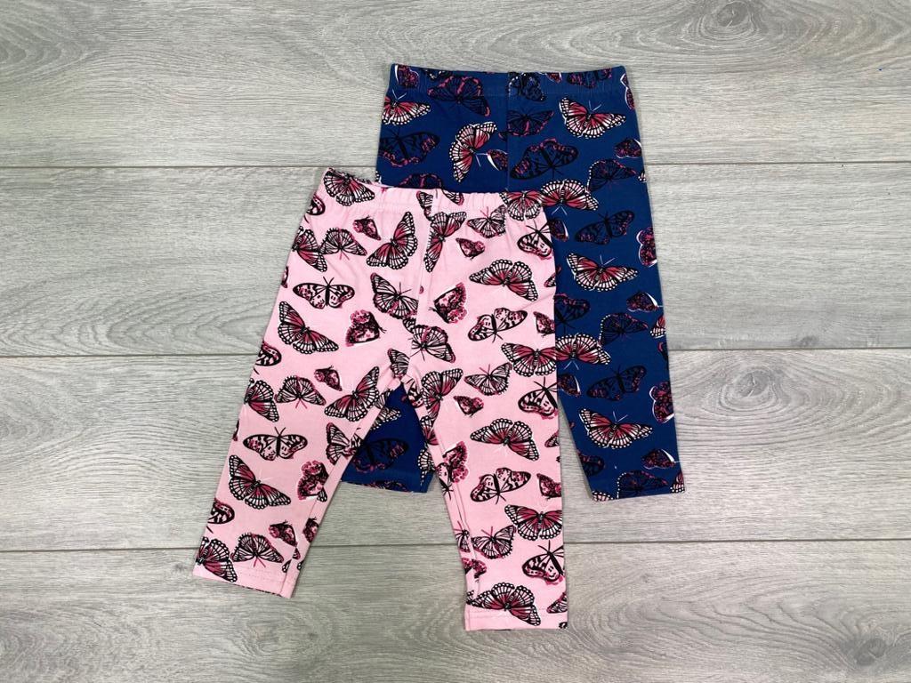 זוג מכנסי לייקרה פרפרים נייבי וורוד