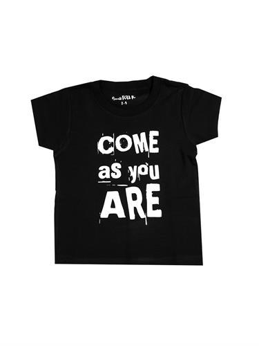 טי COME AS YOU ARE שחור