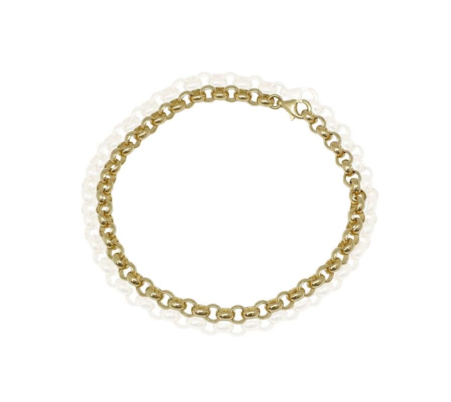 צמיד זהב חוליות  צמיד עדין וקלאסי
