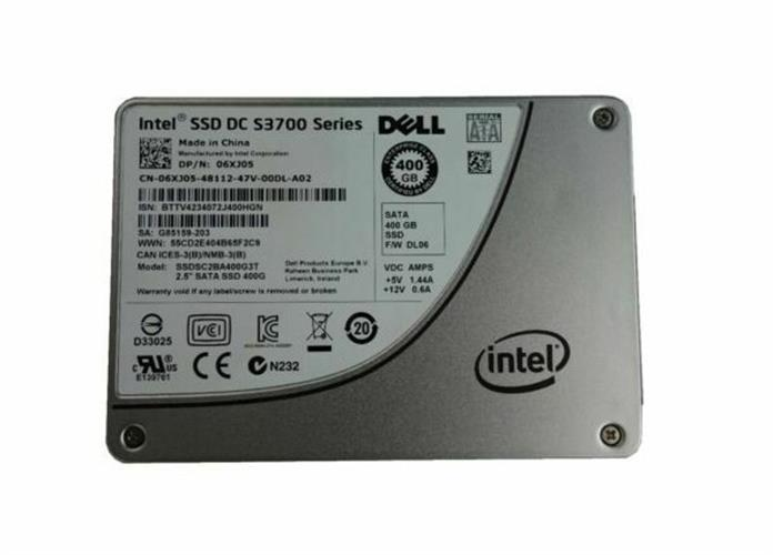 """דיסק לשרת Dell 6XJ05 Intel 400gb SSD DC S3700 Series SATA 2.5"""" With Caddy"""