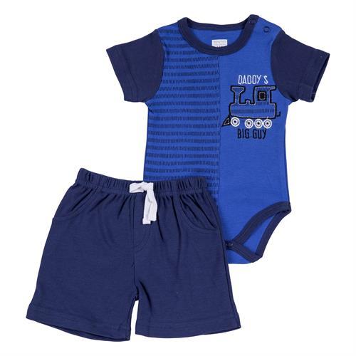 חליפת בגד גוף הדפס קטר כחול נייבי