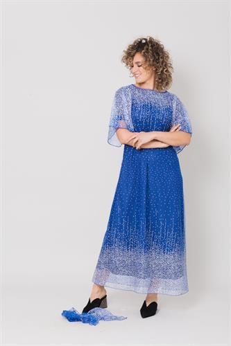 שמלת שלג כנפיים כחול רויאל