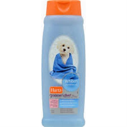"""שמפו לפרווה לבנה לכלבים 532 מ""""ל (hartz)"""