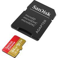 כרטיס זיכרון SanDisk Extreme A2 Micro SDXC UHS-I SDSQXA2-064G- נפח 64GB