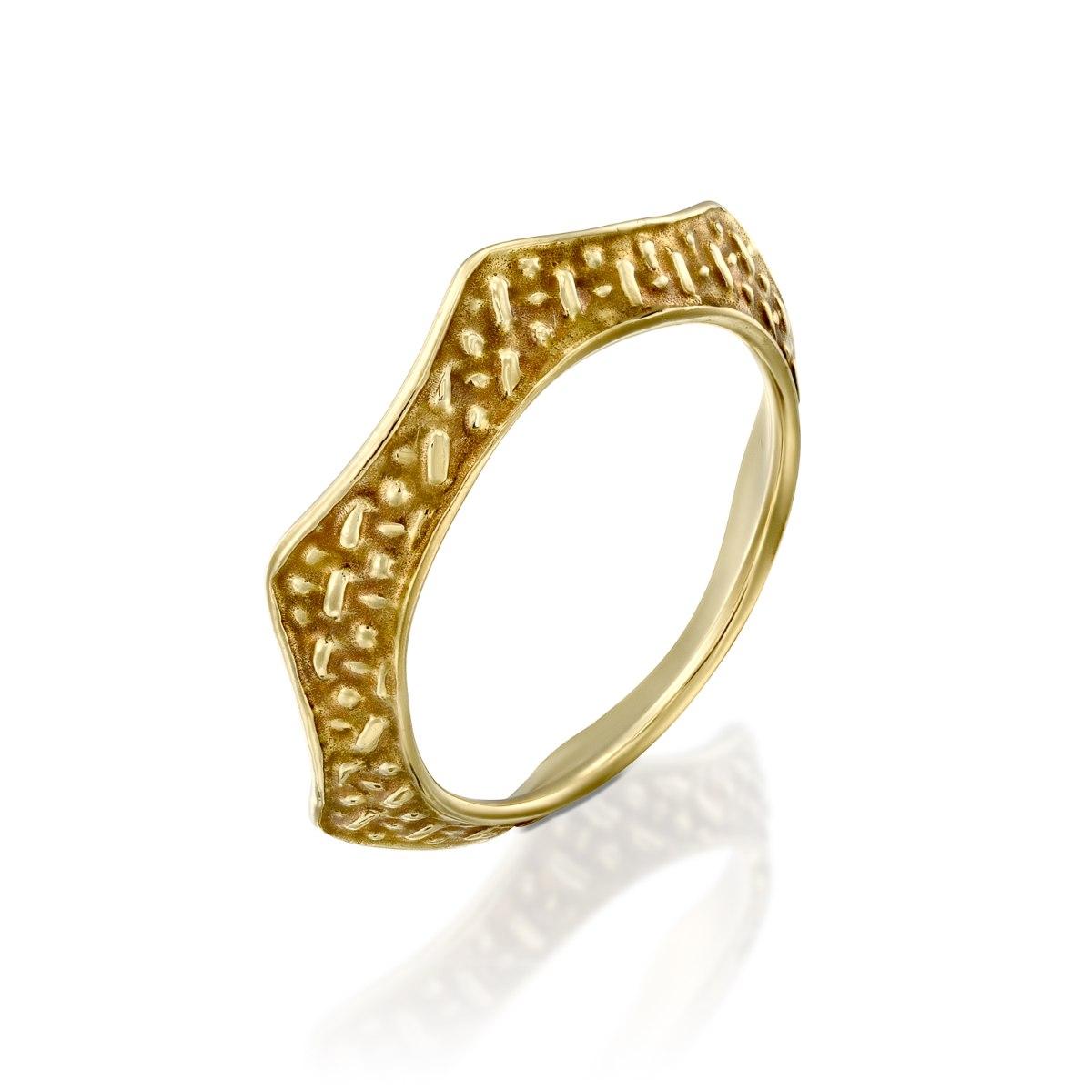 טבעת כתר  זהב 14 קרט נועה טריפ Noa tripp