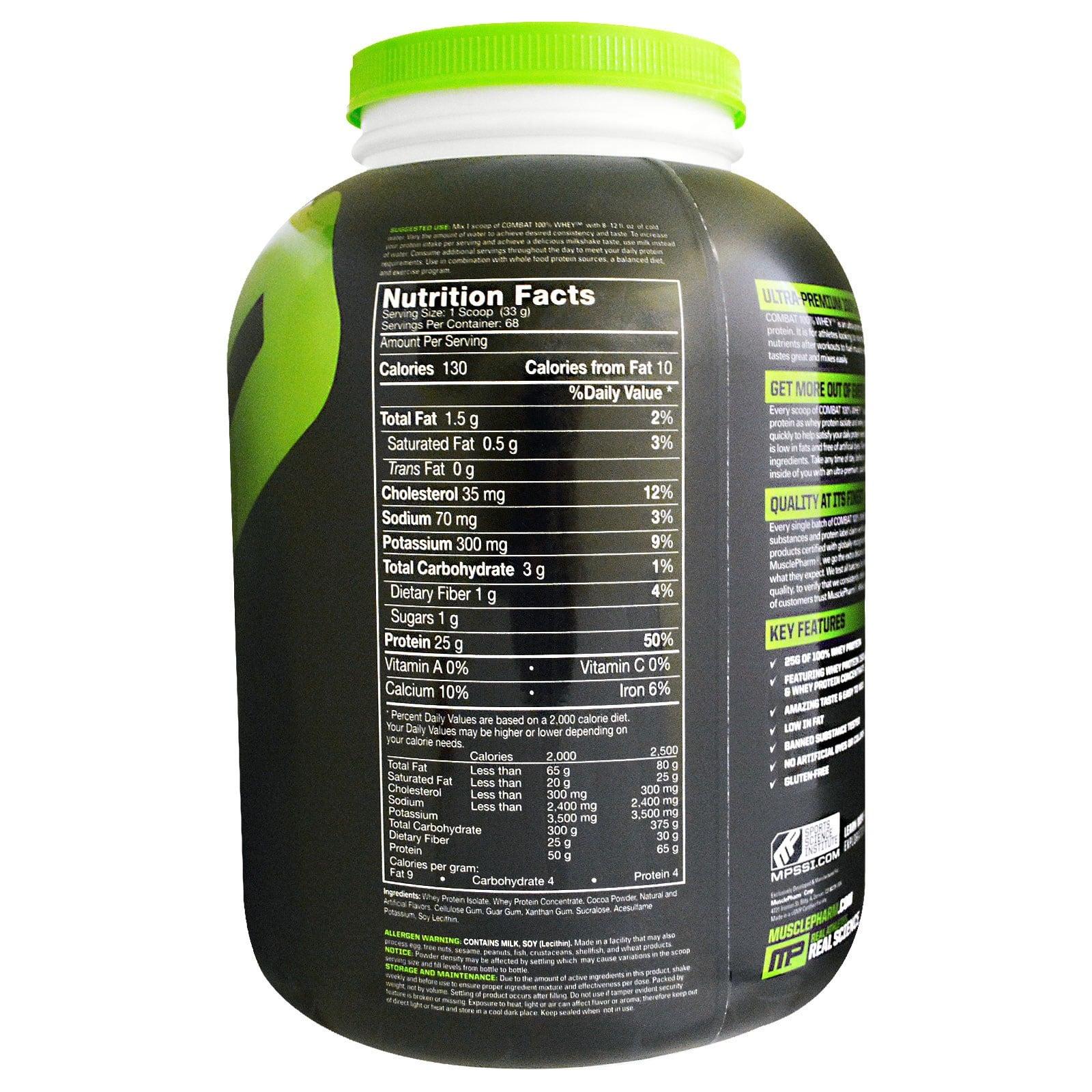 2.27קילו 100% אבקת חלבון מאסל פארם קומבט | Combat 100% Whey