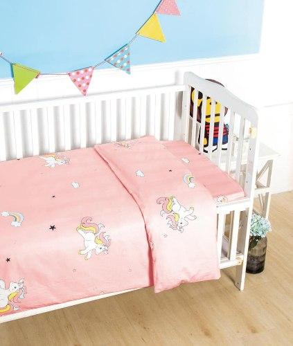 סט מלא למיטת תינוק דגם cool 100% כותנה סאטן