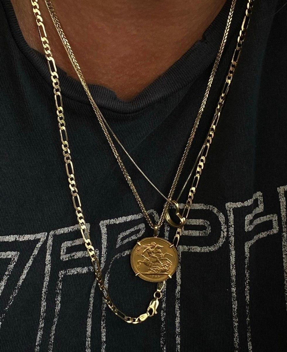 שרשרת פיגרו ארוכה S זהב 14 קראט