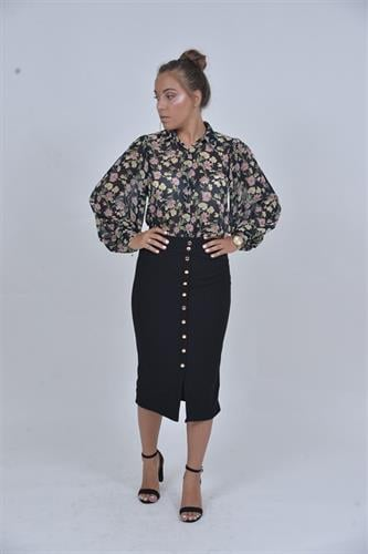 חצאית גבוהה כפתורים