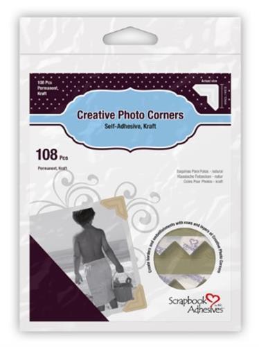 פינות נייר לתמונות 3L - צבע קראפט