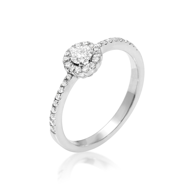 טבעת יהלומים בזהב 14 קרט 0.40 קראט