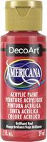 """צבע אמריקנה 59 מ""""ל Brilliant Red DA145"""