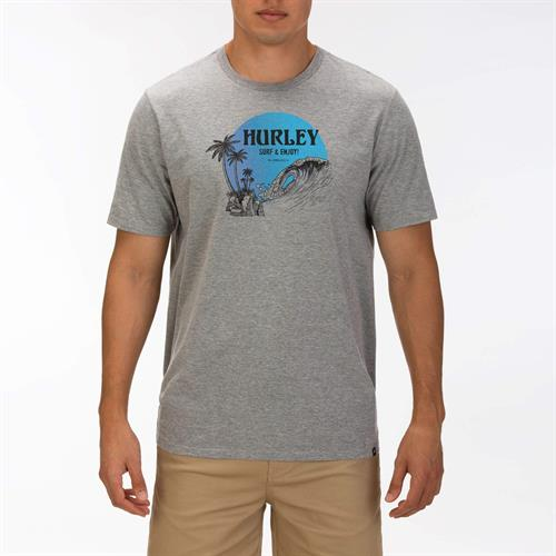 HURLEY BEACHSIDE T-SHIRT - DARK GREY HEATHER