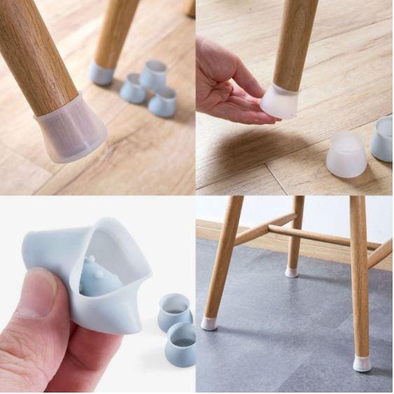מגני סיליקון לרגלי הכיסא