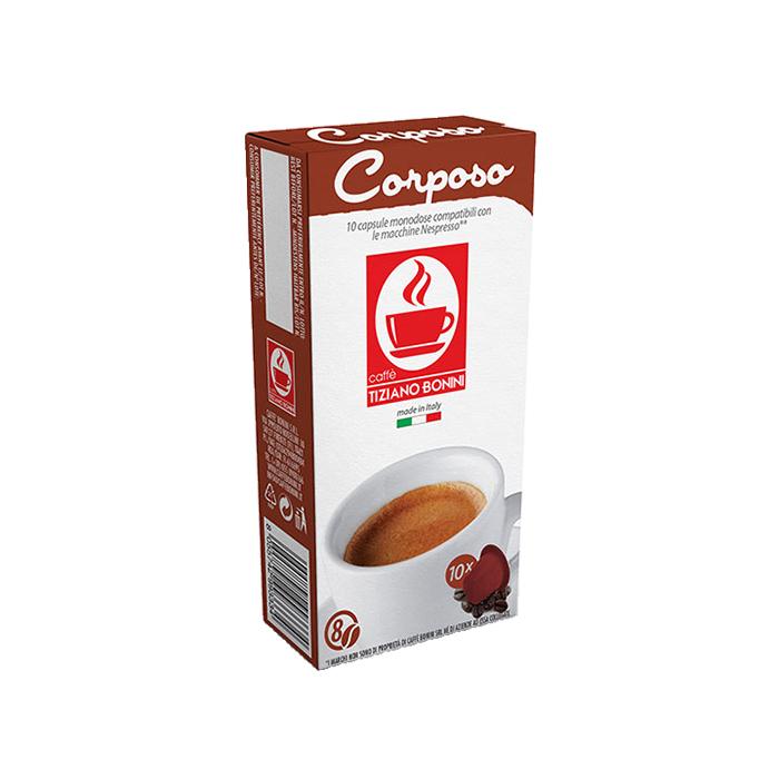10 קפסולות קפה בוניני Corposo תואם נספרסו - חוזק 8