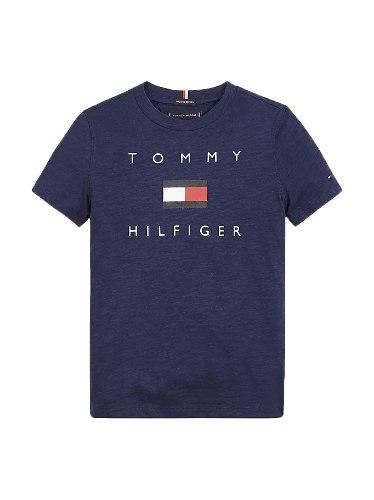 טישירט TOMMY H לוגו דגל כחול 1-16