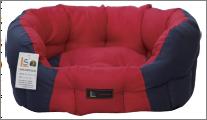 מיטה אוולית אדום/כחול 20*40*50