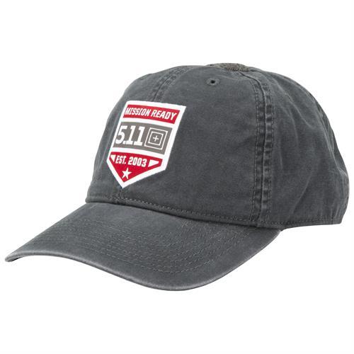 כובע טקטי שחור 5.11 MISSION READY™ CAP Black
