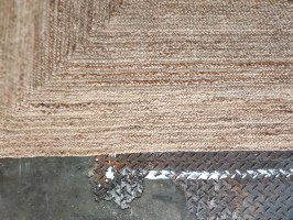 שטיח מחצלת יוטה  - מלבן גדול