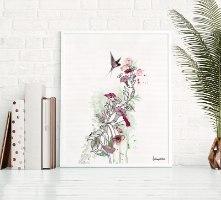 תמונה מינימליסטית של פרח ורוד