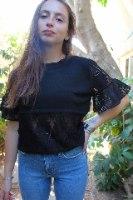 חולצת רונה שחורה