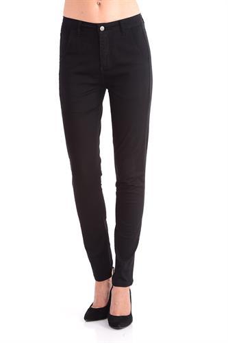 מכנס כותנה בצבע שחור