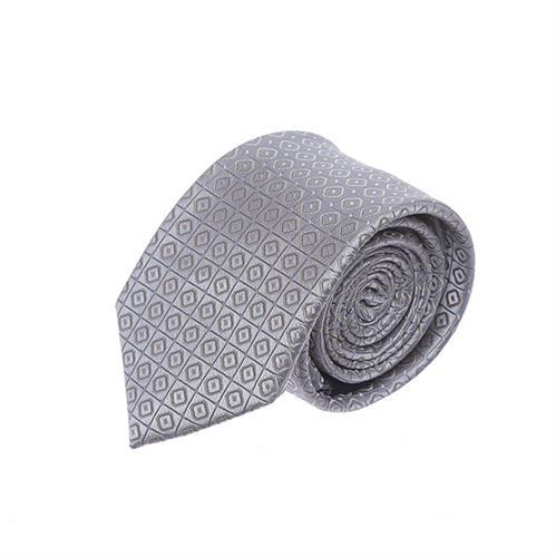 עניבה ריבועים קטנים כסוף