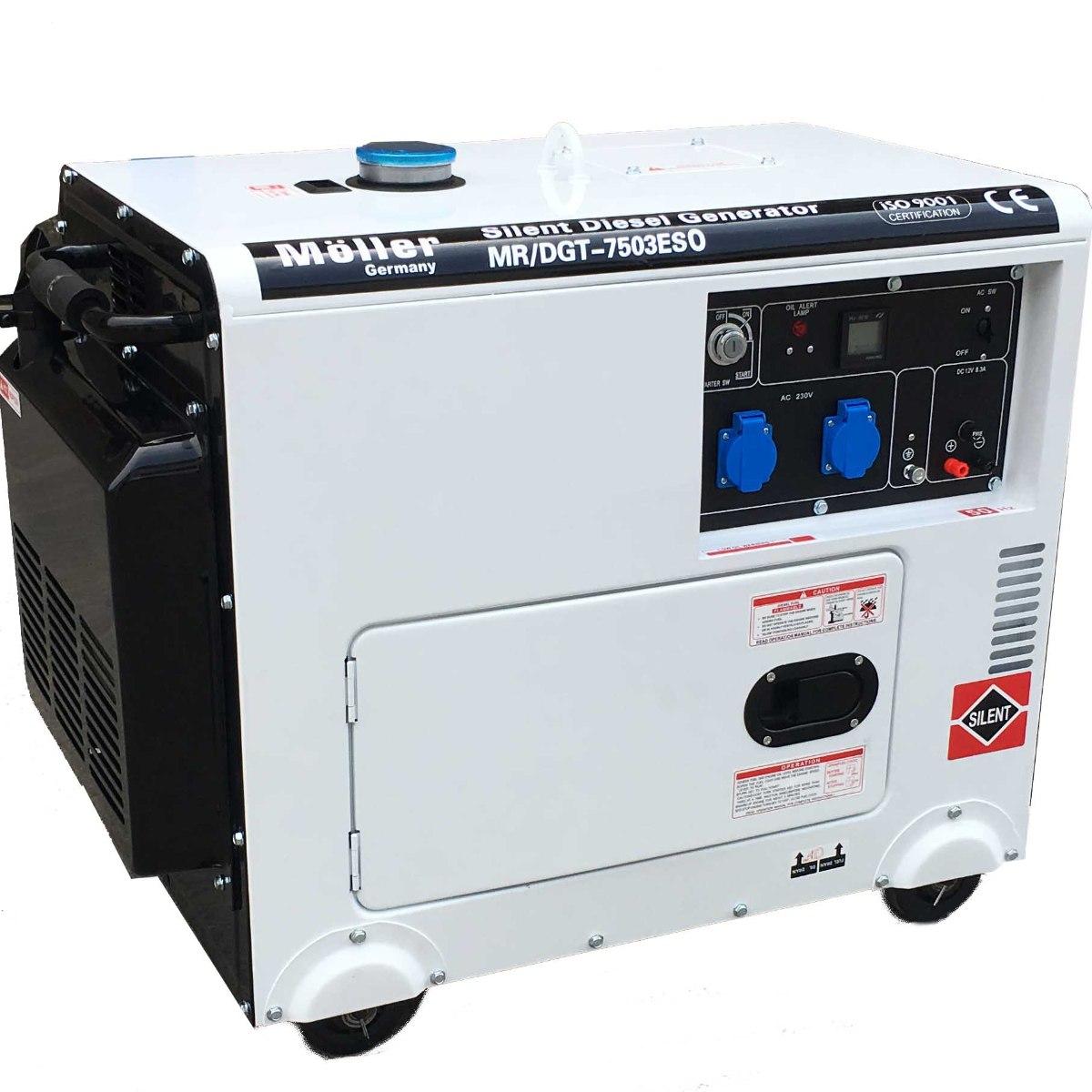 גנרטור דיזל מושתק 7500W חד פאזי של מולר ג'רמני