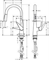 ברז מטבח HANSGROHE דגם 72813000 סדרת טאליס