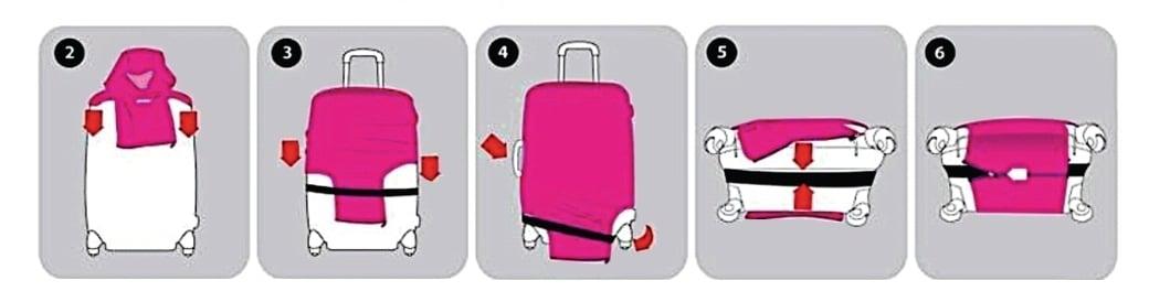 """כיסוי איכותי למזוודה גדולה (28-30"""")- SMILEY"""