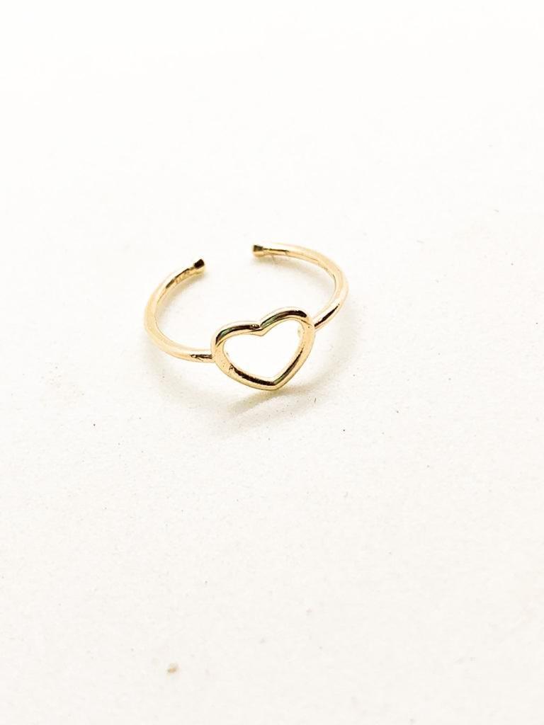 טבעת לב מיני זהב 14 קראט