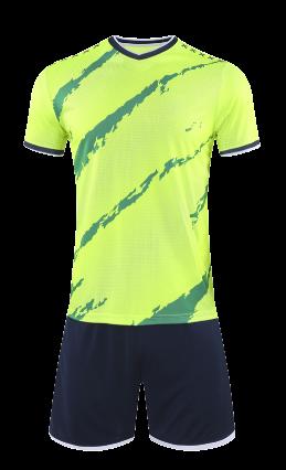 חליפת כדורגל ירוק זוהר