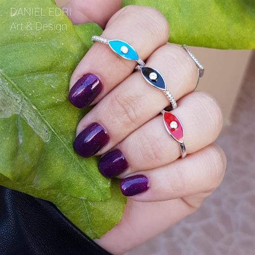 טבעת 2 עניים בשלושה צבעים