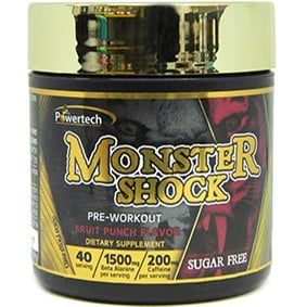 קדם אימון POWERTECH – MONSTER SHOCK PRE-WORKOUT