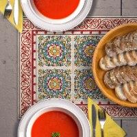 ראנר מבודד חום לשולחן ברצלונה אדום TIVA DESIGN
