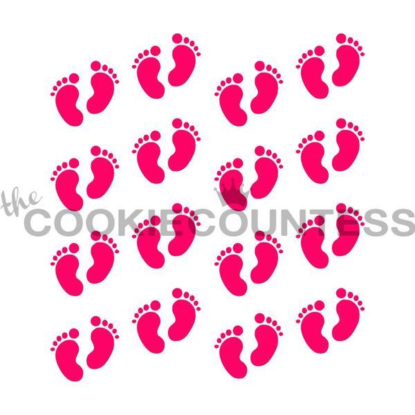 סטנסיל כפות רגליים תינוקות