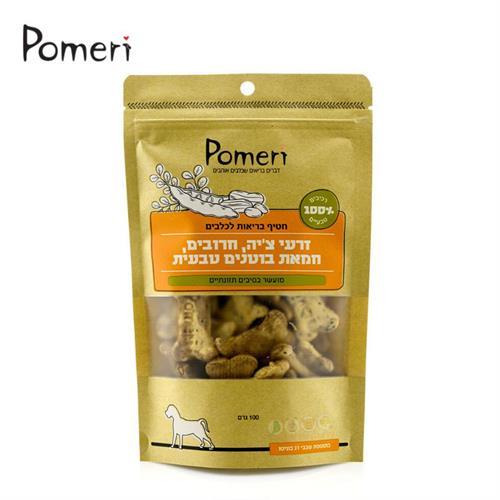 pomeri חטיף בריאות לכלבים - זרעי צ'יה, חרובים, חמאת בוטנים טבעית